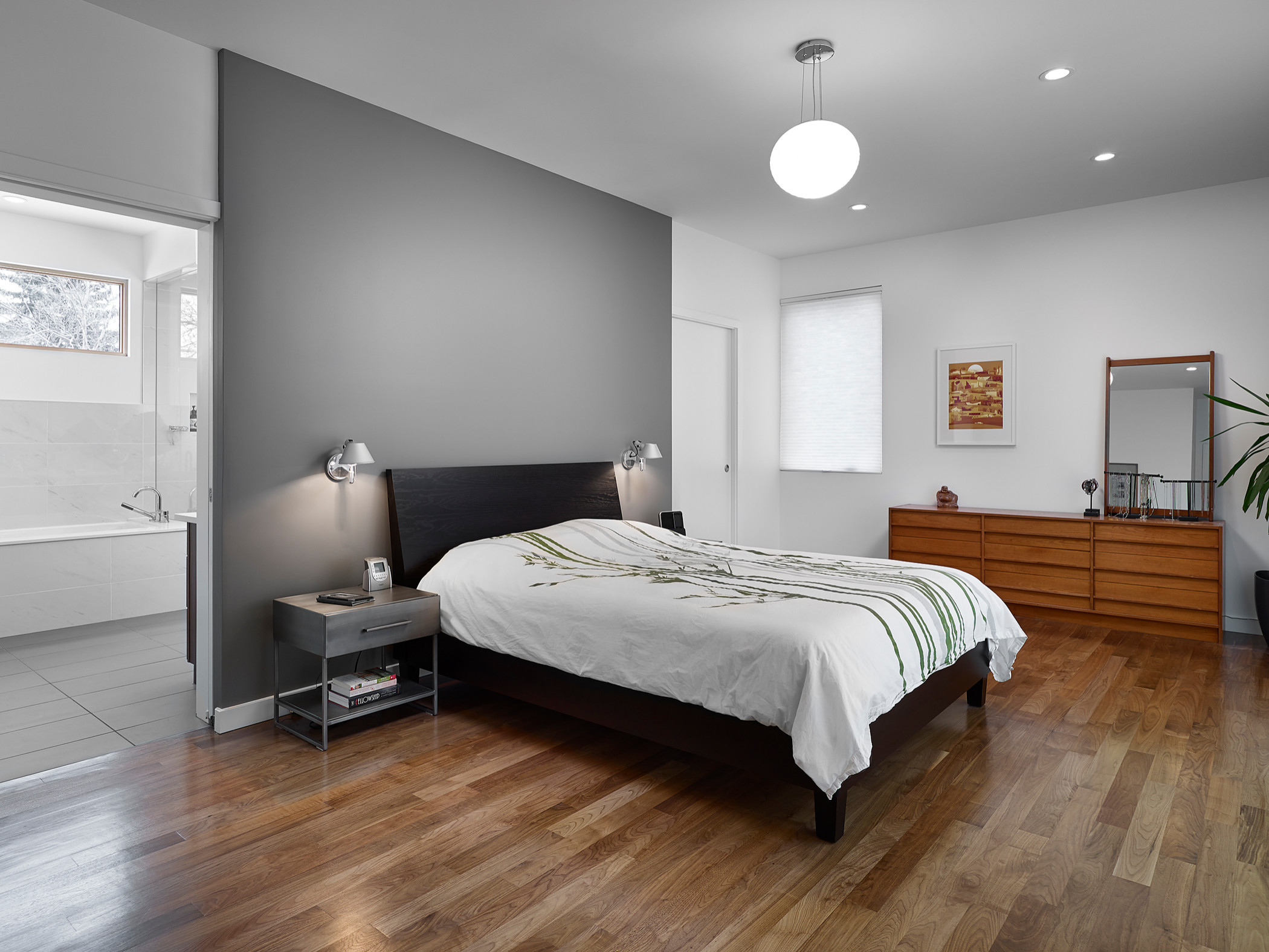 Accent Wall Color Midcentury Houzz
