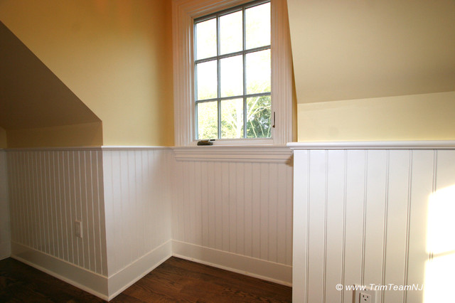 wainscot and picture frames traditional bedroom by trim team nj
