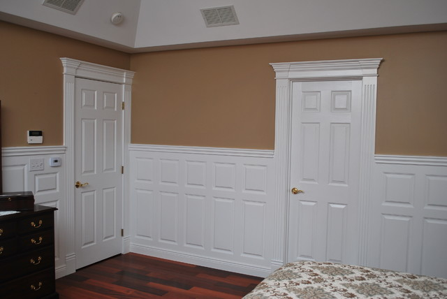 Wainscoting Beadboard With Raised Panel Headboard: images of wainscoting in bedrooms