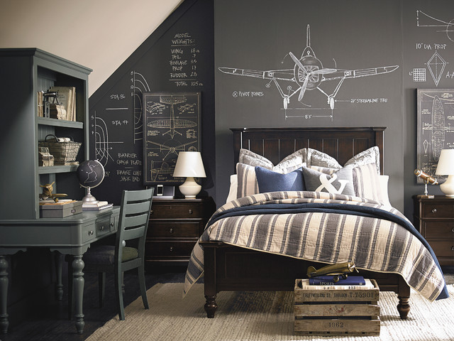 Example Of A Trendy Bedroom Design In Other With Gray Walls. Save Photo. Bassett  Furniture