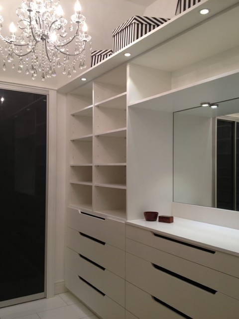 Walk In Wardrobe Modern Bedroom Hertfordshire By