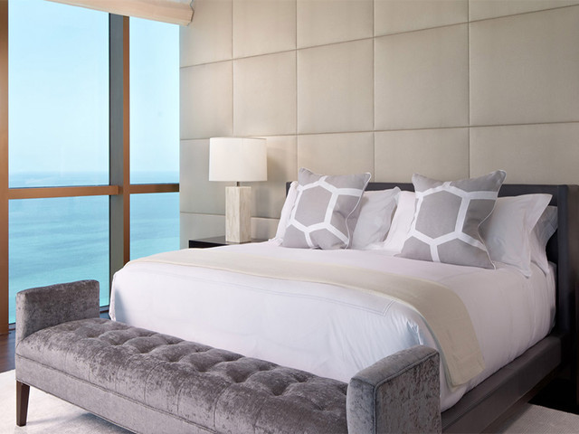 Great Wall Panels Contemporary Bedroom