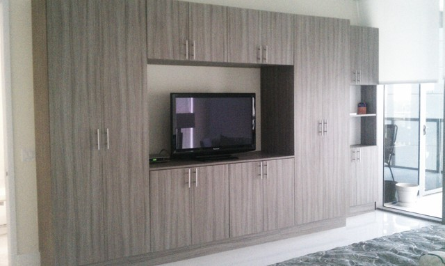 Wall units contemporary bedroom miami by metro for Bedroom wall units with wardrobe for small room