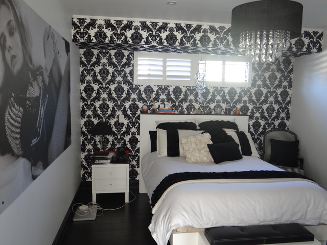 Wallpapering a Bedroom contemporary-bedroom