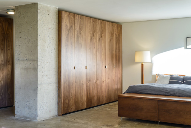 Walnut ikea closet contemporary bedroom new york by semihandmade - Customiser armoire ikea ...