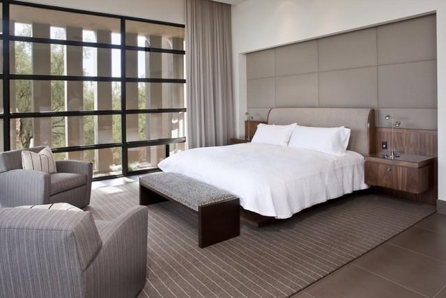 Walnut Master Bedroom Contemporary Bedroom Phoenix
