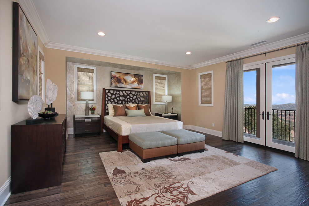 Inspiration for a contemporary bedroom remodel in Orange County