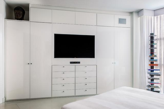 Wardrobe Tv Unit Contemporary Bedroom Miami By