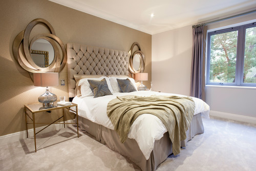 Contemporary Bedroom by South West Interior Designers & Decorators WN Interiors.