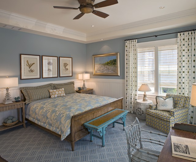 Ideal Beach Style Bedroom by Bruce Palmer Interior Design