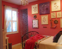 Watermelon Room eclectic bedroom