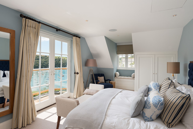 Waterside Home beach-style-bedroom