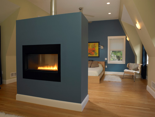 How is drywall around fireplace finish? did you recess the unit