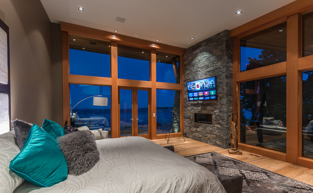 West Coast Contemporary Waterfront Home Contemporary Bedroom