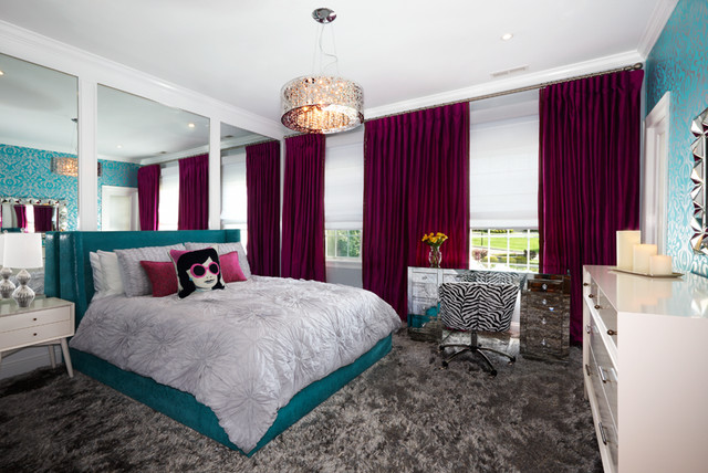 West harrison sophisticated girls bedroom contemporary bedroom new york by evelyn - New york girls room ...