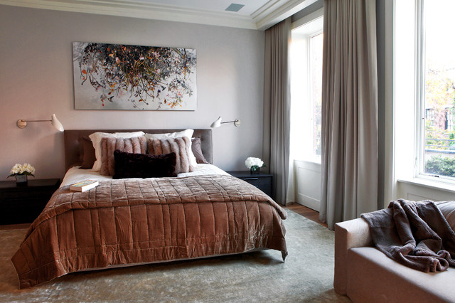 West Village Townhouse NYC modern-bedroom