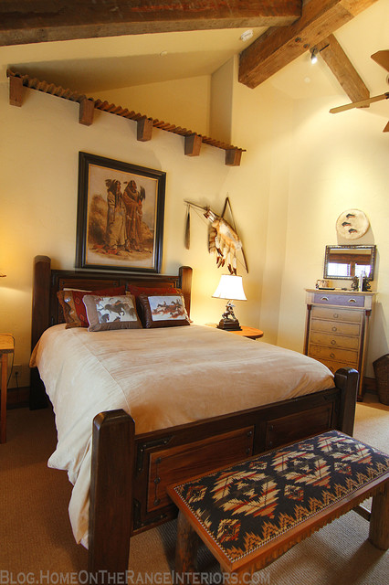 Western mine style bedroom rustic bedroom denver for American indian design and decoration