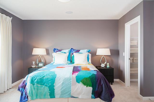 Weston Show Home In Sage Hill NW Calgary Contemporary Bedroom Calgary