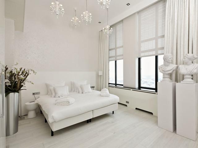 White Hardwood Floorsmodern Bedroom San Go