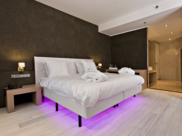 White hardwood floors modern bedroom san diego by for Wood flooring for bedrooms