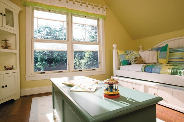 White, Hung Windows traditional-bedroom