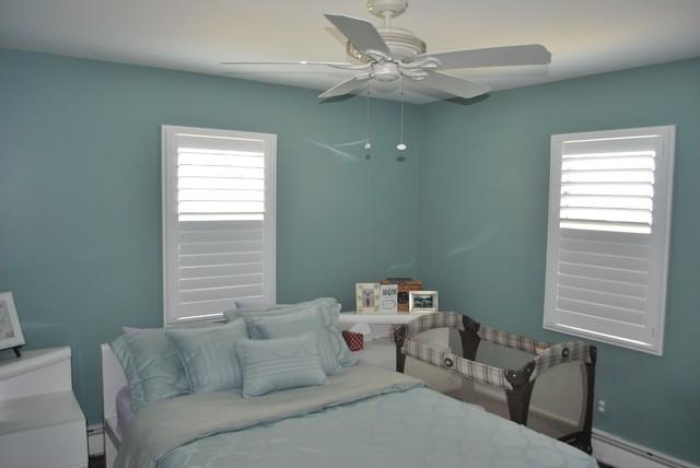 Superieur White Plantation Shutters Contemporary Bedroom