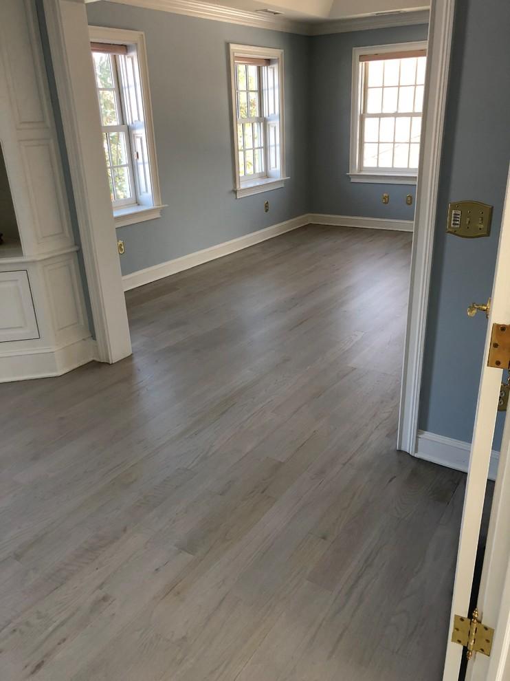 Whitewashed Oak Hardwood Floor Refinish, Grey Laminate Flooring With Blue Walls