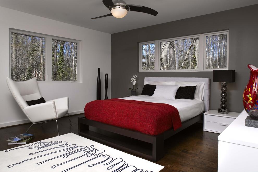Trendy bedroom photo in Atlanta