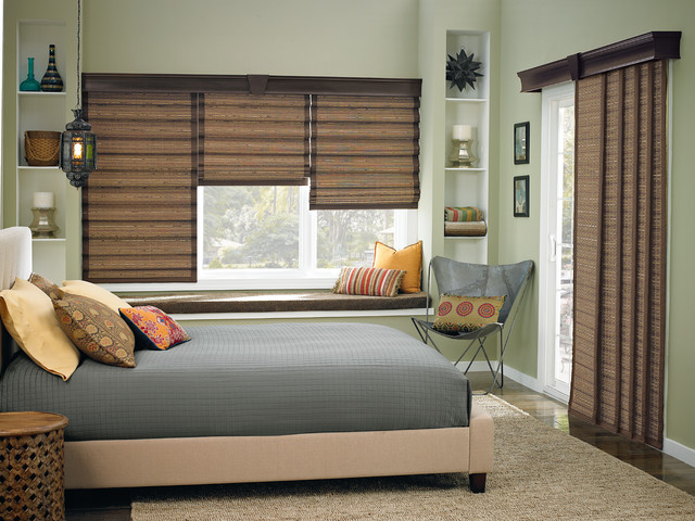 Wide window solutions contemporary bedroom other for Shades for bedroom windows