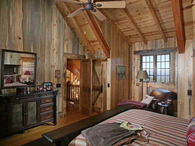 design ideas attic flooring - Wild Turkey Lodge Bedrooms Rustic Bedroom atlanta