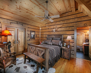 Wild Turkey Lodge Bedrooms eclectic bedroom
