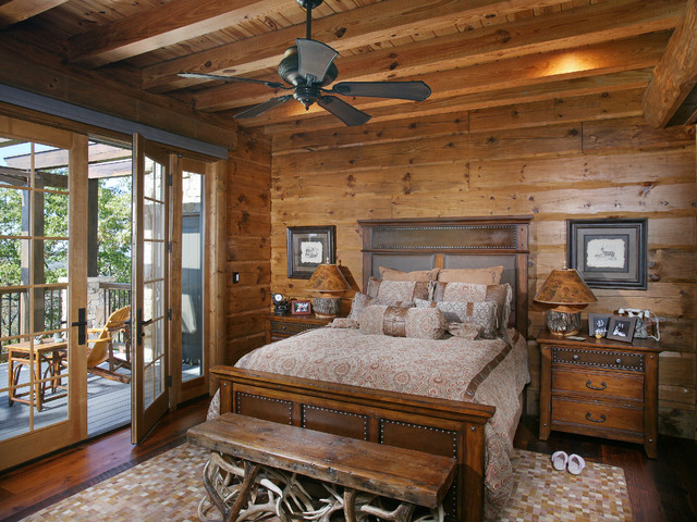 wild turkey lodge bedrooms rustic bedroom atlanta. Black Bedroom Furniture Sets. Home Design Ideas