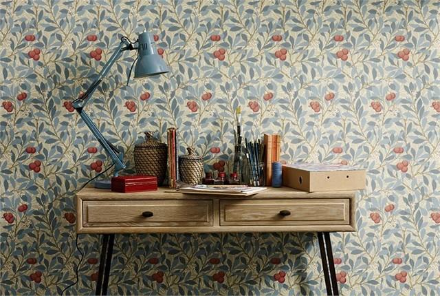 William Morris Wallpaper Klassicheskij Spalnya San Diego Ot Eksperta Design District Access Houzz Rossiya