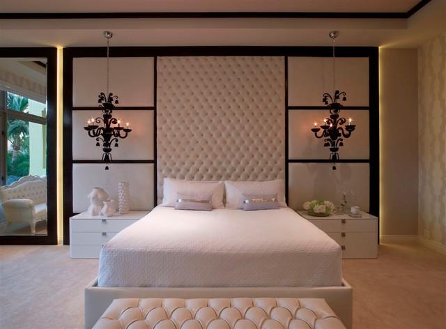 williams island villa flora contemporary bedroom