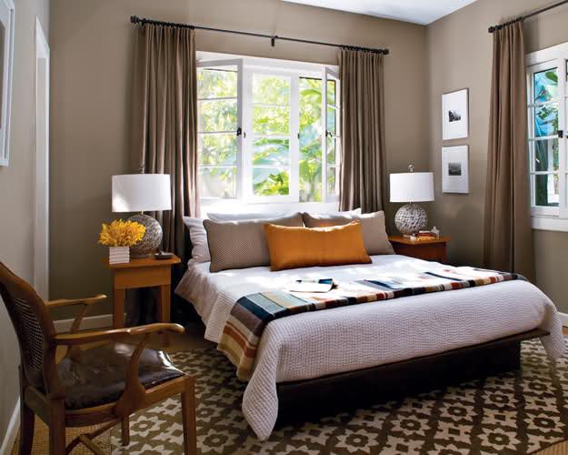 Window headboard contemporary-bedroom & Window headboard Pezcame.Com