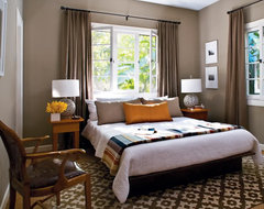 Window headboard contemporary-bedroom
