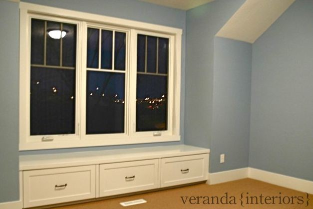 Window seat & built-in closet traditional-bedroom