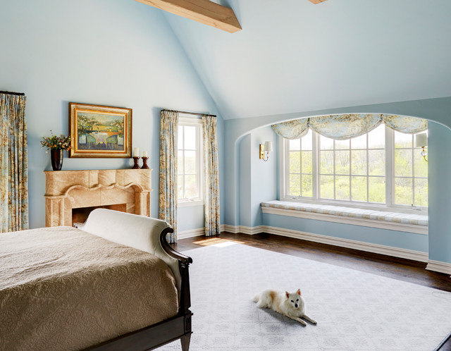 Window Seat in French Country Master Bedroom - Traditional ...