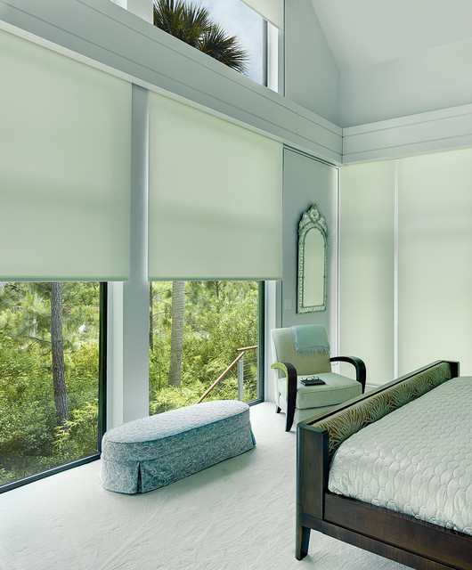 Window Treatment Kiawah Charleston Motorized Shade Contemporary Bedroom