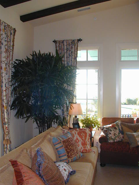 Asian Style Window Treatments http://www.houzz.com/photos/1441165/Window-Treatments-mediterranean-bedroom-orange-county