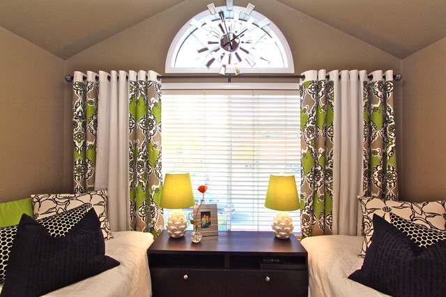 Window treatments modern bedroom modern bedroom san diego by robeson design Window coverings for bedrooms