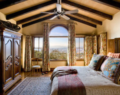 Wine Country Spanish Estate rustic-bedroom