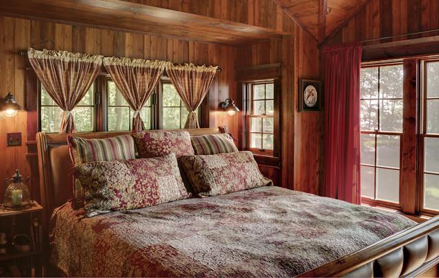 Woman Lake rustic-bedroom