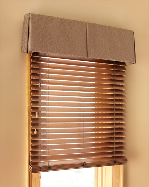 Blinds In A Box: Wood Blinds With Box Pleat Valance