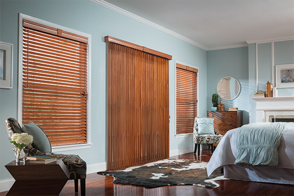 WOOD VERTICAL BLINDS   Graber Wood Blinds   Bedroom Ideas Modern Bedroom