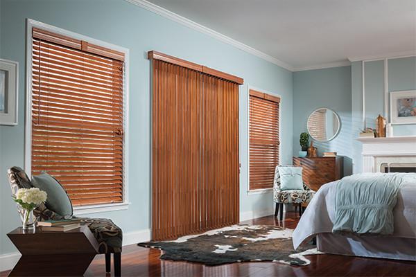 Wood Vertical Blinds Graber Wood Blinds Bedroom Ideas Modern