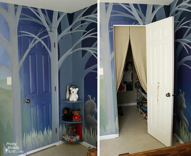 Woodland Themed Bedroom Details Traditional Bedroom