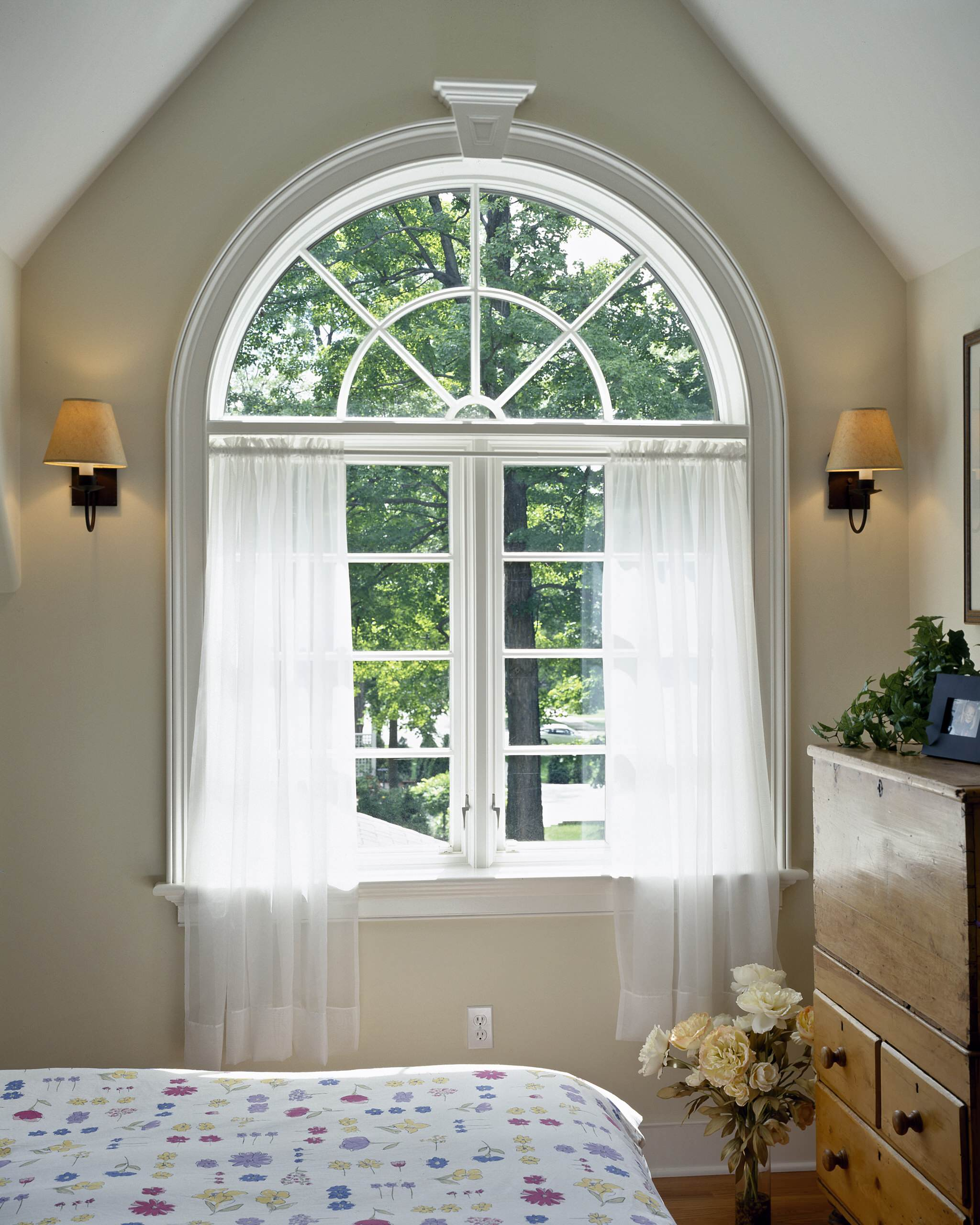 Arched Window Curtains Houzz