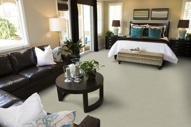 Traditional Bedroom Carpet : Wool carpet traditional bedroom portland by area