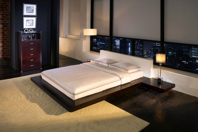Worth platform bed modloft direct furniture modern bedroom atlanta by direct furniture - Modloft worth platform bed king ...